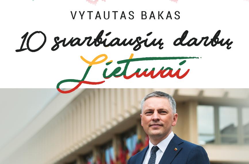 10 mano darbų Lietuvai! (veiklos ataskaita)